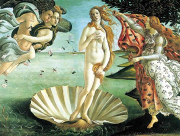 《維納斯的誕生》 作者:波提切利  收藏於烏菲茲美術館