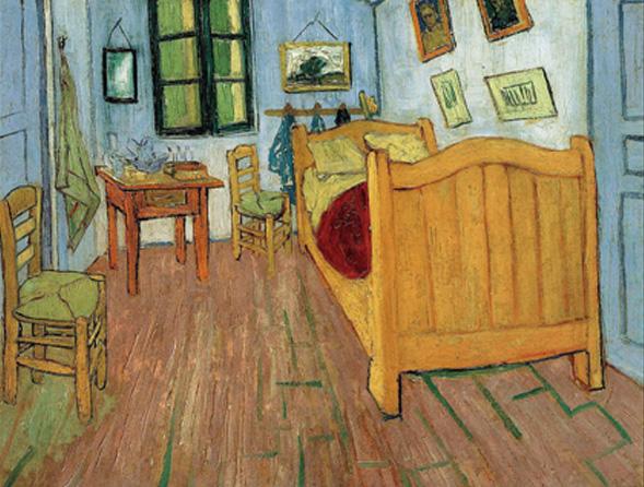 《臥室》  作者:梵高 收藏於文森特•梵高博物館