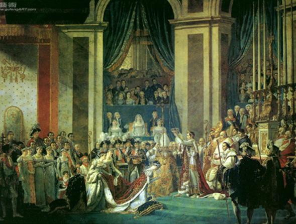《皇帝拿破侖一世加冕》 作者: 雅克•路易•大衛 收藏於凡爾賽宮