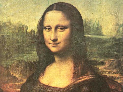 《蒙娜麗莎的微笑》 作者:達•芬奇  收藏於盧浮宮