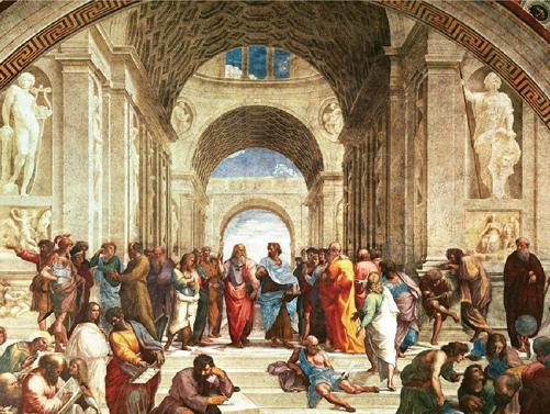 《雅典學院》  作者:拉斐爾  收藏於梵蒂岡博物館